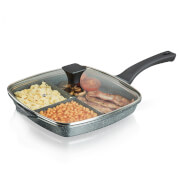 Tower Cerastone 3-in-1 Cast Grill Pan - 28cm - Graphite
