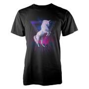 T-Shirt Homme Farkas Last Laser Unicorn -Blanc