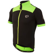 Pearl Izumi Pro Pursuit Wind Short Sleeve Jersey - Black/Screaming Green