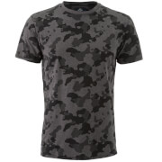 Threadbare Men's Felton Camo T-Shirt - Charcoal