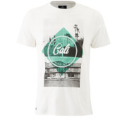 T-Shirt Homme Surf Goods Threadbare - Blanc Cassé