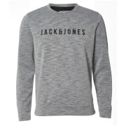 Jack & Jones Men's Core Pase Sweatshirt - Light Grey Marl