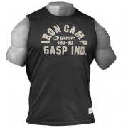 GASP Throwback Short Sleeve T-Shirt - Wash Black