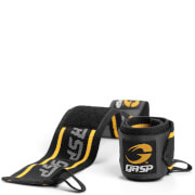GASP 18 Inch Wrist Wraps - Black/Yellow