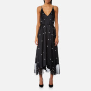 T by Alexander Wang Women's Sleeveless V-Neck Trapeze Dress - Black/Bone Print - US 6/UK 10 - Black