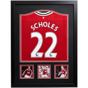 Click to view product details and reviews for Paul Scholes Signed And Framed Manchester United Shirt.