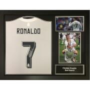 Image of Cristiano Ronaldo 2016 Signed and Framed Real Madrid Shirt