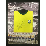 Image of Carlos Alberto 1970 Brazil Signed and Framed Shirt