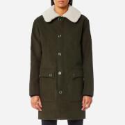 A.P.C. Women's Boreale Coat - Kaki Militaire - EU 38/UK 10 - Green