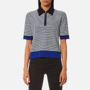 Diane von Furstenberg Women's Collared Knitted Shirt - Klein Blue - L - Blue