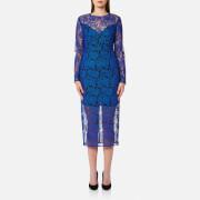 Diane von Furstenberg Women's Tailored Midi Dress - Klein Blue