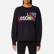 Love Moschino Women's Large Logo Sweatshirt - Navy