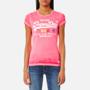 Superdry Women's Premium Goods Burnout T-Shirt - Pink Lemonade
