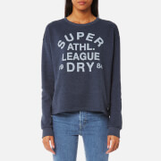 Superdry Women's Athletic League Loopback Crew Sweatshirt - 90's Denim Marl