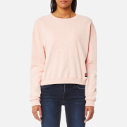 Superdry Women's Metro Corded Crew Sweatshirt - 90's Shell Pink