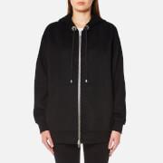 Alexander Wang Women's Oversized Zip Up Hoody - Onyx - M - Black