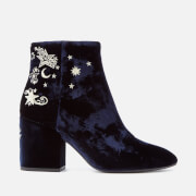 Ash Women's Elixir Velvet Heeled Ankle Boots - Midnight