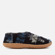 TOMS Men's Wool House Slippers - Navy Tribal