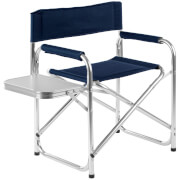 Premier Housewares Folding Garden Chair with Shelf - Blue