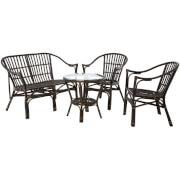 Milano Furniture Set - (4 Piece) Black