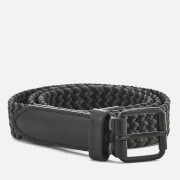 Ben Sherman Men's Barbican Plaited Belt - Black/Grey