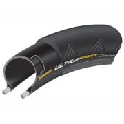 Image of Continental Ultra Sport II Clincher Folding Road Tyre - 700c x 25mm - Black/Orange