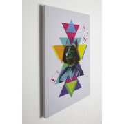Star Wars Abstract Neon Darth Vader Printed Canvas Wall Art