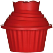 Premier Housewares Giant 3 Piece Silicone Cupcake Set - Red