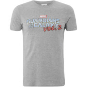 Marvel Männer Guardians of the Galaxy Vol. 2 Logo T-Shirt - Grau