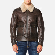 Belstaff Men's Mentmore Blouson Jacket - Black/Brown - IT 46/S - black/brown