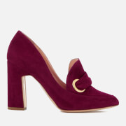 Rupert Sanderson Women's Monique Suede Heeled Shoes - Sangria - UK 3 - Red
