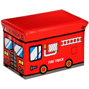 Premier Housewares Fire Truck Design Children's Storage Box/Seat