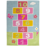 Premier Housewares Kids Hopscotch Rug - Multi Colour