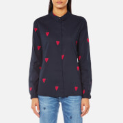 Maison Scotch Women's Basic Shirt in Heart Print - Combo B