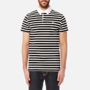 Maison Kitsuné Men's Marin Polo Shirt - Black Ecru