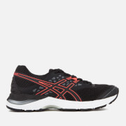Asics Running Women's Gel Pulse 9 Trainers - Black/Flash Coral/Carbon