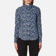 GANT Women's Stretch Broadcloth Mini Floral Shirt - Marine