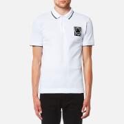 McQ Alexander McQueen Men's Tonal Patch Colourblock Pique Polo Shirt - Optic White