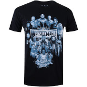 WWE Men's Wrestlemania Group T-Shirt - Black