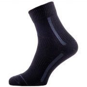 Sealskinz Road Max Ankle Socks - Black/Grey