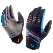 Sealskinz Dragon Eye MTB Gloves - Black/Blue/Orange
