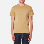 Maison Kitsuné Men's Tricolor Fox Patch T-Shirt - Camel