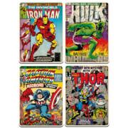 Marvel Comics Set of 4 Large Coasters