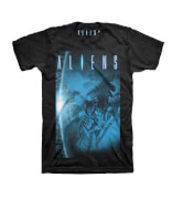 Aliens Bluescale Men's Black T-Shirt