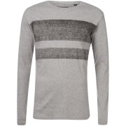 T-Shirt Homme Jam Longues Manches Troy - Gris Clair Chiné