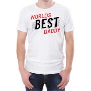 T-Shirt Homme World's Best Daddy -Blanc
