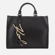 Karl Lagerfeld Women's K/Metal Signature Shopper Bag - Black