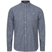 Tokyo Laundry Men's Sicily Checked Long Sleeve Shirt - Sapphire Blue