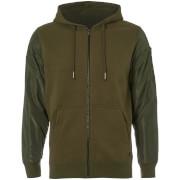 Dissident Men's Devo Contrast Sleeve Zip Through Hoody - Green