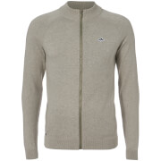 Le Shark Men's Caspian Men's Zip Through Jumper - Light Grey Marl